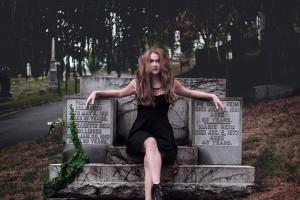 Graveyard photo shoot